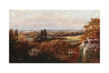 The Thames and Eton from the Terrace, Windsor Castle Giclee Print by Francis S. Walker