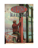Frustrating the Iron Eater, Front Cover of the 'Dupont Magazine', March 1919 Giclee Print by  American School