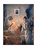 French Nurses Tend Wounded Soldiers, 1915 Giclee Print by Henri Gervex