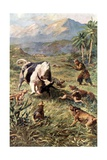 Hunting Wild Cattle in Haiti Giclee Print by Charles Mills Sheldon