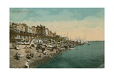 The Beach, Brighton. Postcard Sent in 1913 Giclee Print by  English Photographer