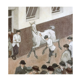 Showing the Paces, Aldridge's, c.1914 Giclee Print by Robert Polhill Bevan