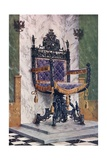 Wrought Steel Chair Giclee Print by Edwin John Foley