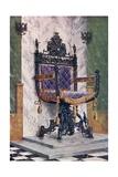 Wrought Steel Chair Giclee Print by Edwin John Foley