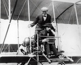 Thomas E. Grant with Mr Lewis Turner in a Flying Machine to Photograph the Eclipse, 1912 Photographic Print by Thomas E. & Horace Grant