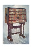 Vargueno Cabinet of Chestnut, Ivory, Etc., Painted and Gilt with Wrought-Iron and Steel Mounts:… Giclee Print by Edwin John Foley