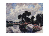 The Montigny Dam; Le Barrage a Montigny, 1902 Giclee Print by Roderic O'Conor