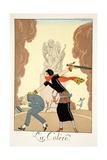 Wrath, from 'Falbalas and Fanfreluches, Almanach des Modes Présentes, Passées et Futures', 1925 Giclee Print by Georges Barbier