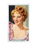 Gertrude Lawrence, 1935 Giclee Print