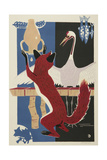 The Fox and the Crane (With Pitcher), 1962 Giclee Print by Evgenia Endrikson