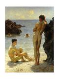 Lovers of the Sun, 1923 Reproduction procédé giclée par Henry Scott Tuke