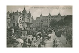 Hotel de Paris Monte-Carlo in Monte Carlo, Monaco, France. Postcard Sent in 1913 Giclee Print by French Photographer