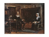 Milton in His Cottage Dictating Paradise Regained Giclee Print by Francis S. Walker