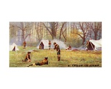 A Scout Troop in Camp, 1929 Giclee Print by  English School