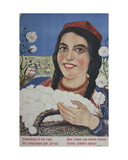 Give the Country More Cotton!, 1947 Giclee Print by Galina Konstantinovna Shubina