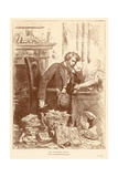 The Newspaper Editor Giclee Print by Frederick Barnard