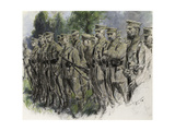 Fall In' - Norfolk Volunteers, c.1916 Giclee Print by Frank Gillett
