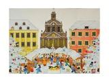 Christmas Market, 2001 Giclee Print by Christian Kaempf