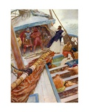 Paul Shipwrecked Giclee Print by William Henry Margetson