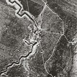 Over the German Lines, Showing Deep Trenches, Mine Craters and Shell-Pitted Ground Photographic Print by English Photographer