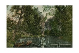 River Granta, Paradise, Cambridge. Postcard Sent in 1913 Giclee Print by  English Photographer