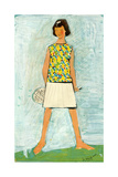 Sketch of a Girl in a Tennis Dress, 1968 Giclee Print by Nina Ivanovna Shirokova