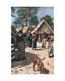 The Devil Visiting a Mandingo Town Giclee Print by Harry Hamilton Johnston