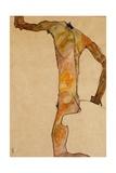 Male Nude; Mannlicher Akt, 1910 Giclee Print by Egon Schiele