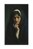 The Head of a Girl, 1904 Giclee Print by Albert Gustaf Aristides Edelfelt