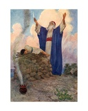 Abraham and Isaac on Mount Moriah Giclee Print by William Henry Margetson