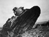 Light Renault Tank of the U.S. 327th Tank Battalion Advancing on the Wester Photographic Print by  American Photographer