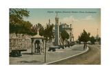 Pilgrim Fathers Memorial, Western Shore, Southampton. Postcard Sent in 1913 Giclee Print by  English Photographer