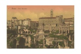 Forum Romanum, Rome. Postcard Sent in 1913 Giclee Print by  Italian Photographer
