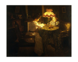Lamplight, 1908 Giclee Print by Jules Emile Crochet