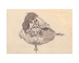 A Kiss, 1923 Giclee Print by Galina Konstantinovna Shubina