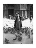 Alice Monet, St.Mark's Square, Venice, October 1908 Photographie par  French Photographer