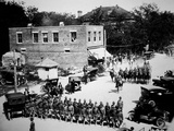 American 306 Field Signal Battalion Leaves Lexington, South Carolina for Europe, May 1918 Photographic Print by  American Photographer
