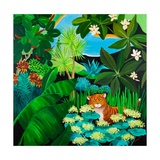 Puss in Jungle, 2013 Giclee Print by Maggie Rowe