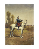 Cavalryman on a White Charger, 1907 Giclee Print by Etienne Prosper Berne-bellecour