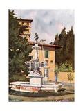 The Villa Petraja, Florence Giclee Print by Mima Nixon