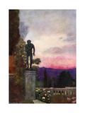 Sunset, the Achilleion, Corfu Giclee Print by Mima Nixon