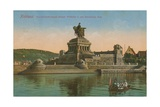 Monument to Kaiser Wilhelm I, Koblenz. Postcard Sent in 1913 Giclee Print by  German photographer