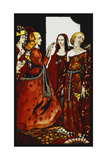 Queens Whose Finger Once Did Stir Men'. 'Queens', Nine Glass Panels Acided, Stained and Painted,… Gicleetryck av Harry Clarke