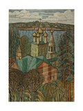 The Town of Uglich on the Volga, 1980 Giclee Print by Masabikh Akhunov