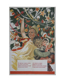Happy New Year, 1940 Giclee Print by Galina Konstantinovna Shubina