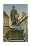 Gutenberg Monument, Strasbourg. Postcard Sent in 1913 Giclee Print by  German photographer
