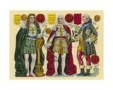 Victorian Scrap: King George I, King George II, King George III Giclee Print by  English School
