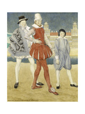 Mercutio and Benvolio - Romeo and Juliet, 1927 Giclee Print by Norman Wilkinson