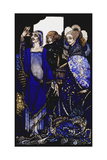 Queens Who Wasted the East by Proxy....'. 'Queens', Nine Glass Panels Acide Gicleetryck av Harry Clarke