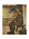 Seated Figure; Sitzende Figur, 1909 Giclee Print by Wilhelm Morgner